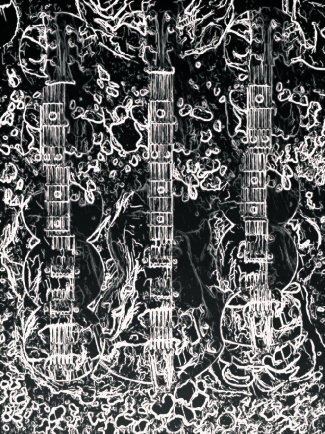 black-white-guitars
