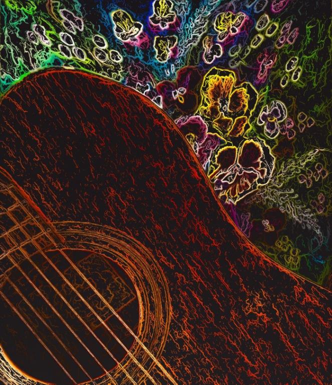 Guitar & Flowers