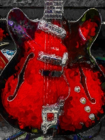 Old Red Guitar